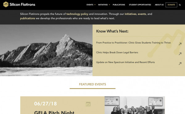 University of Colorado's Silicon Flatirons Center Website Gets a Reboot